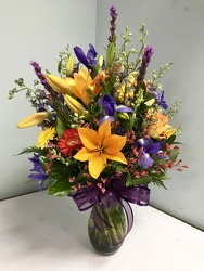 Vivid Mixed Vase Arrangement