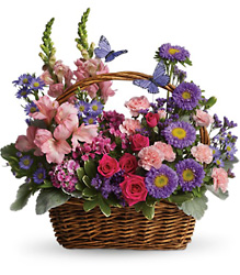 Country Basket Blooms from Ruby's Leesville Florist in Leesville, LA